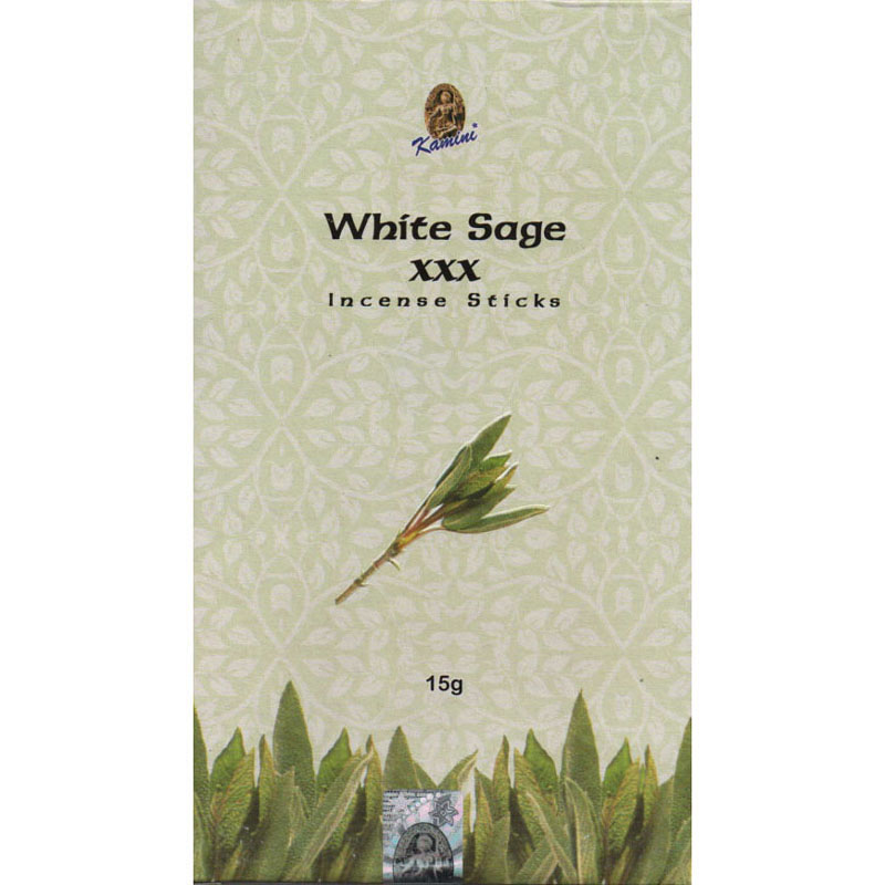 Kamini Incense Sticks - WHITE SAGE XXX - 15g Flat Box