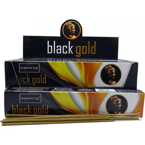 Nandita Incense Sticks - BLACK GOLD Organic