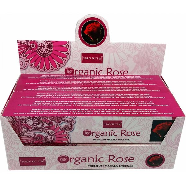 Nandita Incense Sticks - ORGANIC ROSE