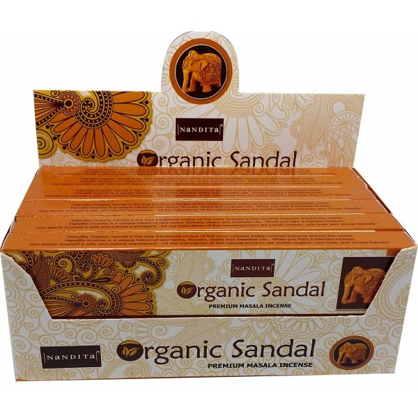 Nandita Incense Sticks - ORGANIC SANDALWOOD
