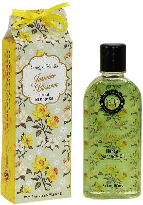 Song of India Herbal Massage Oil - JASMINE BLOSSOM