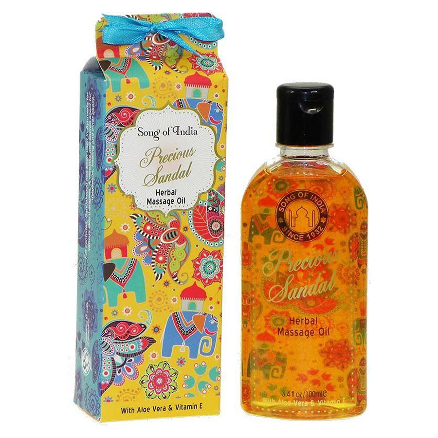 Song of India Herbal Massage Oil - PRECIOUS SANDAL
