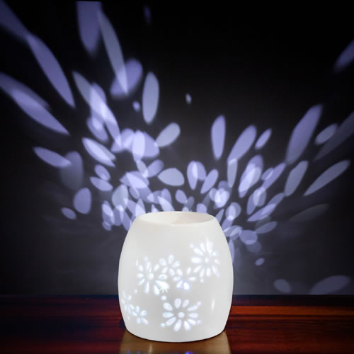 Electric Oil Burner Multi LED Light - NATURAL