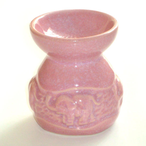 Small Oil Burner - Elephant - Pink