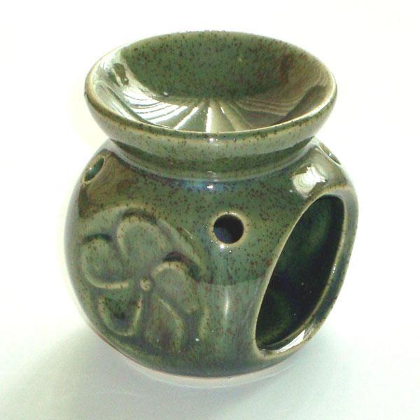 Small Oil Burner - Flower - Green