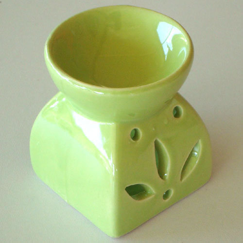 Small Oil Burner - Square Leaf - Lime