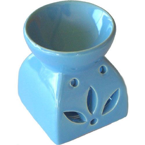 Small Oil Burner - Square Leaf - Blue