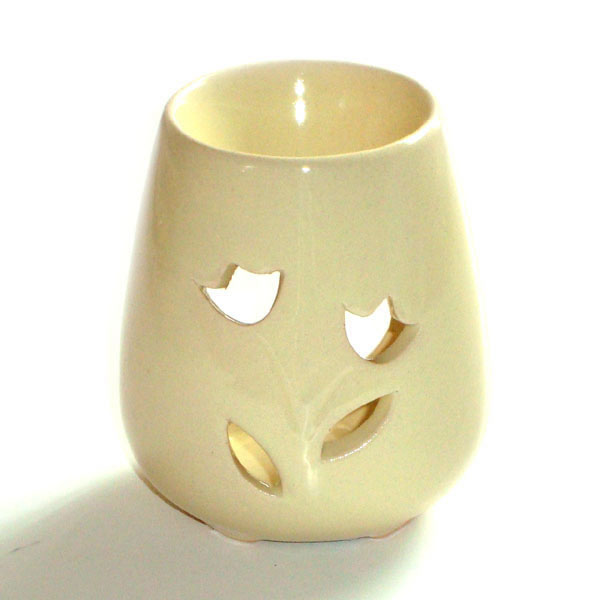 Small Oil Burner - Rose - Cream