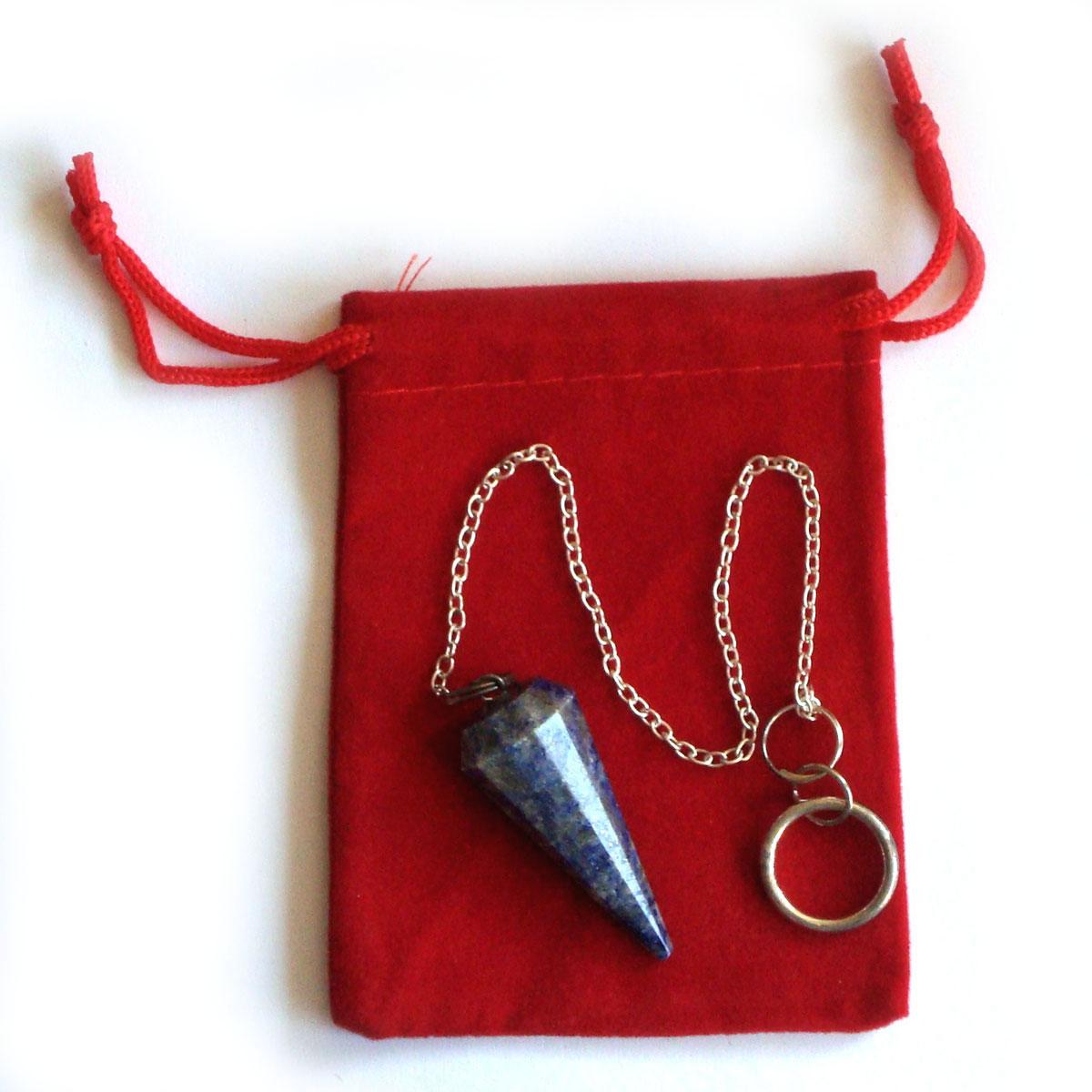 Crystal Pendulum - LAPIZ LAZULI FACETED
