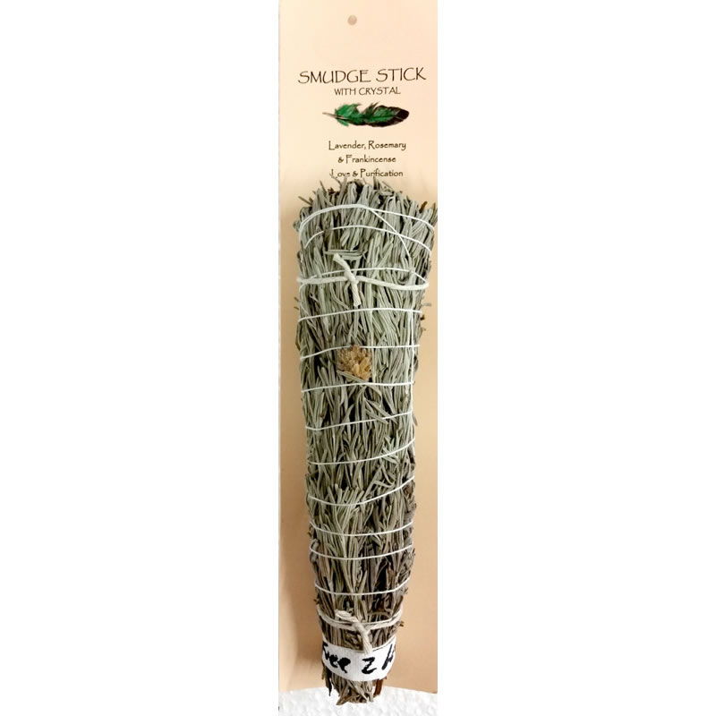 Crystal Magic Smudge Stick - Lavender, Rosemary, Frankincense