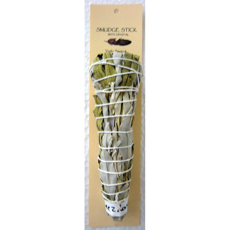 Crystal Magic Smudge Stick - Yerba Santa & California White Sage