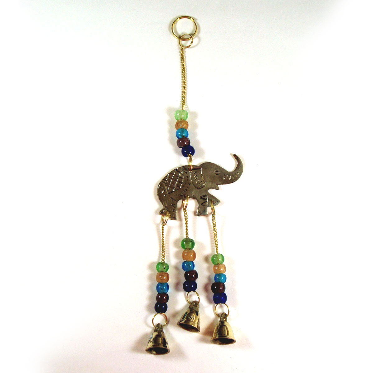 Brass Wind Chime with bells - ELEPHANT