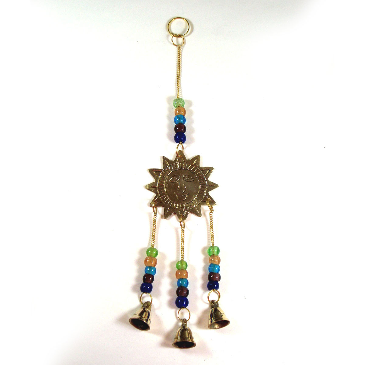 Brass Wind Chime with bells - SUN