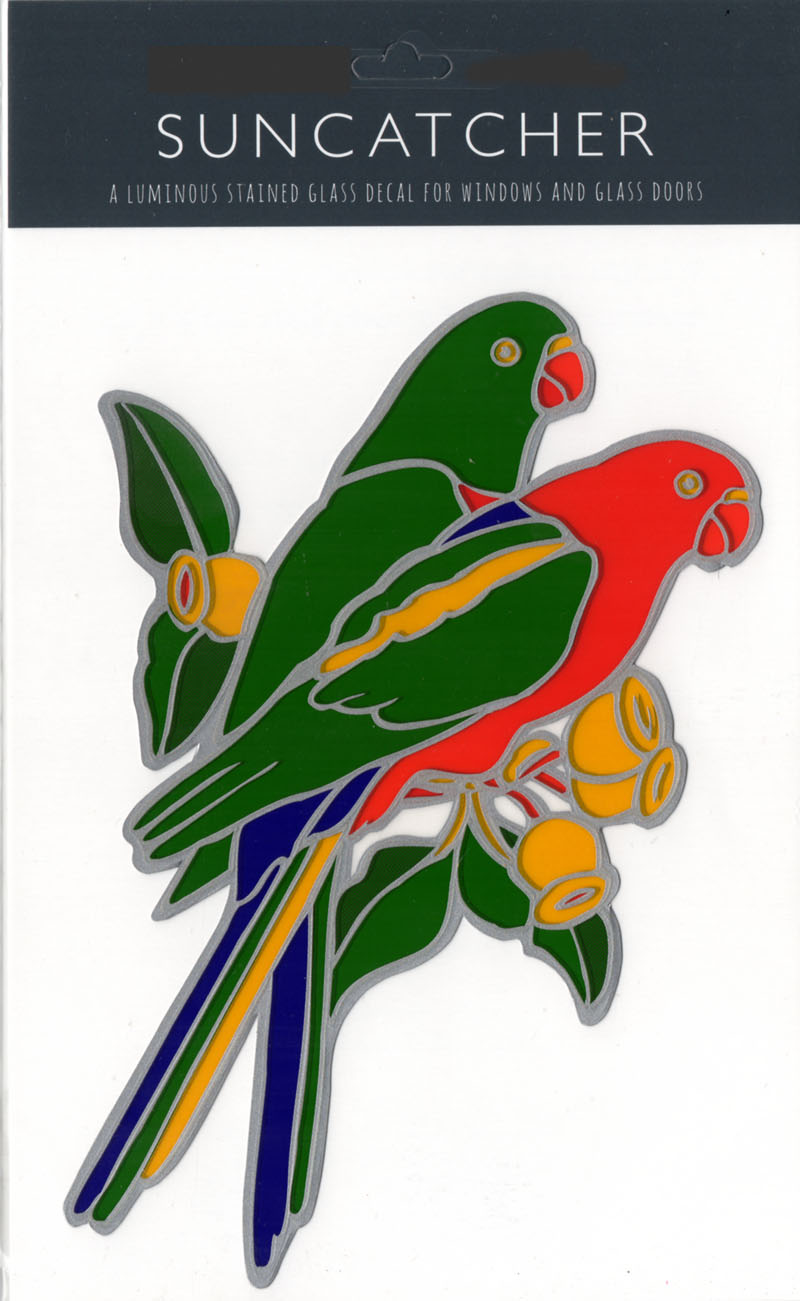 Decal / Window Sticker - Suncatcher KING PARROTS