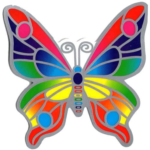 Decal / Window Sticker - Suncatcher RAINBOW BUTTERFLY