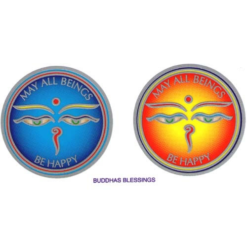 Decal / Window Sticker - Sunlight BUDDHA BLESSINGS