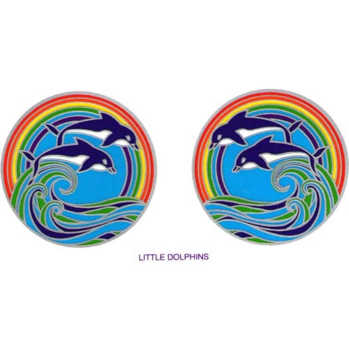 Decal window sticker sunlight little dolphins