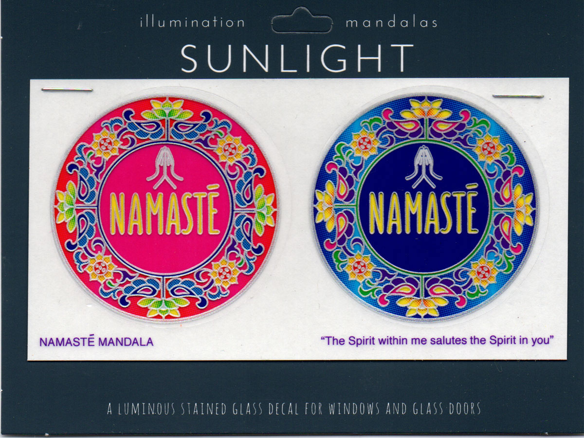 Decal / Window Sticker - Sunlight NAMASTE MANDALA