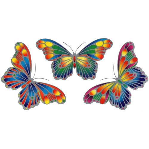 Decal / Window Sticker - Sunray MAGIC BUTTERFLIES