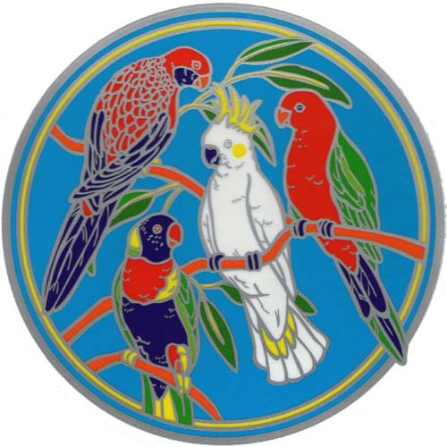 Decal window sticker sunseal australian native birds