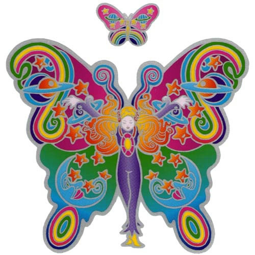 Decal window sticker sunseal butterfly fairy