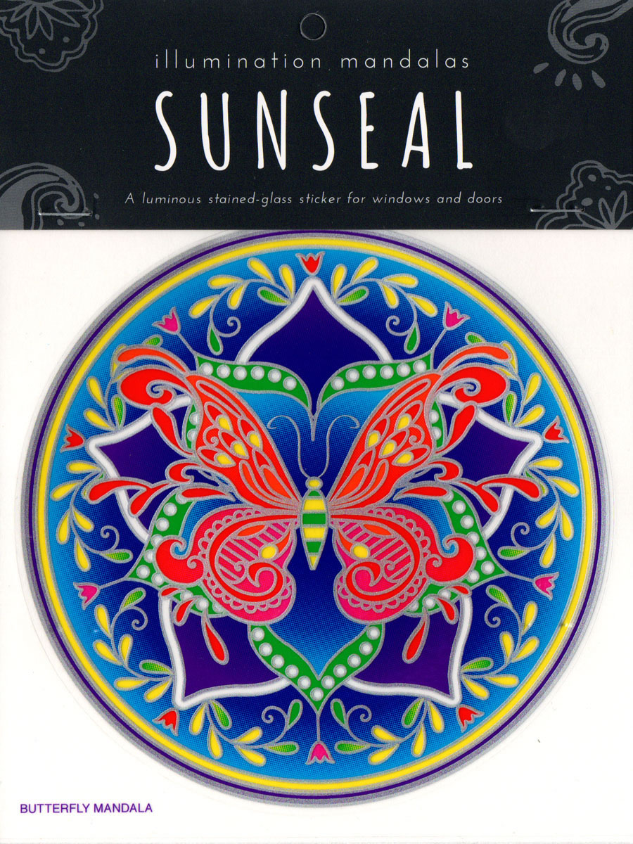 Decal / Window Sticker - Sunseal BUTTERFLY MANDALA
