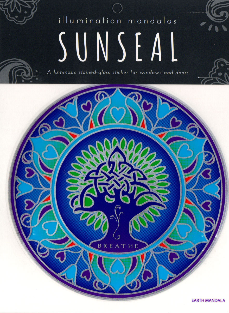 Decal / Window Sticker - Sunseal EARTH MANDALA