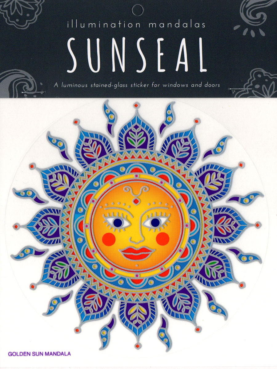 Decal / Window Sticker - Sunseal GLODEN SUN MANDALA