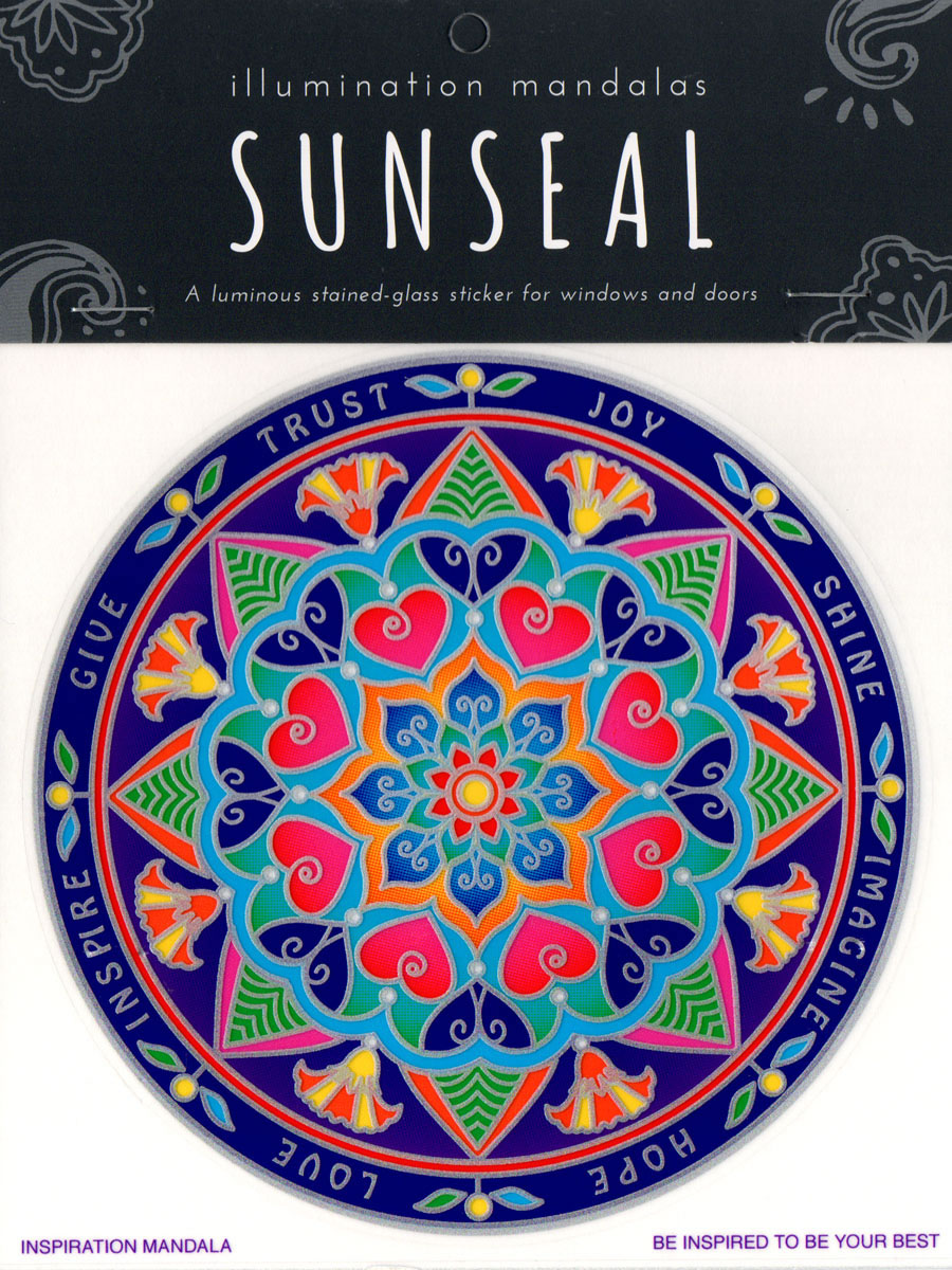 Decal / Window Sticker - Sunseal INSPIRATION MANDALA