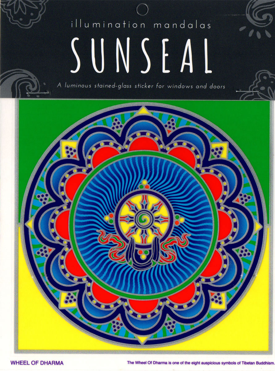 Decal / Window Sticker - Sunseal WHEEL OF DHARMA
