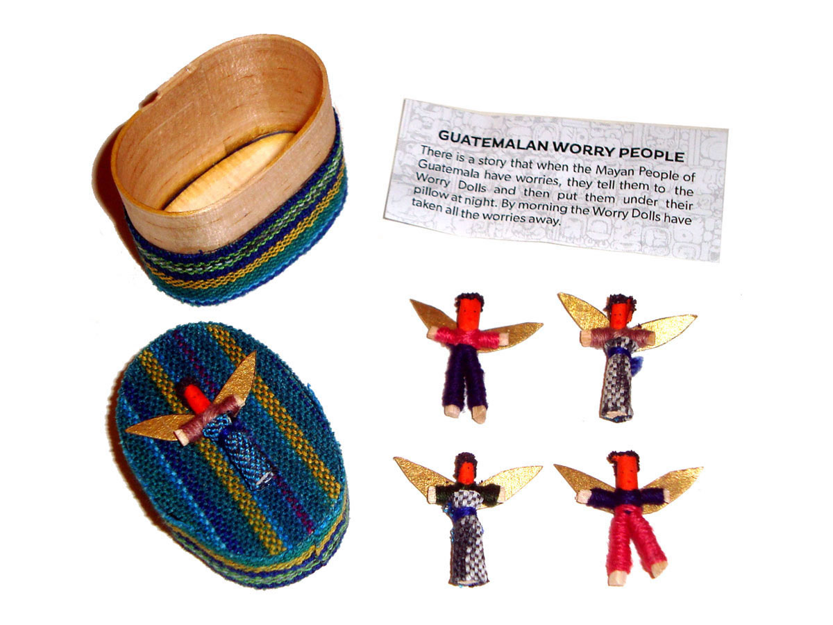 Angel Worry Dolls - 4 X MINI ANGEL WORRY DOLLS in BOX