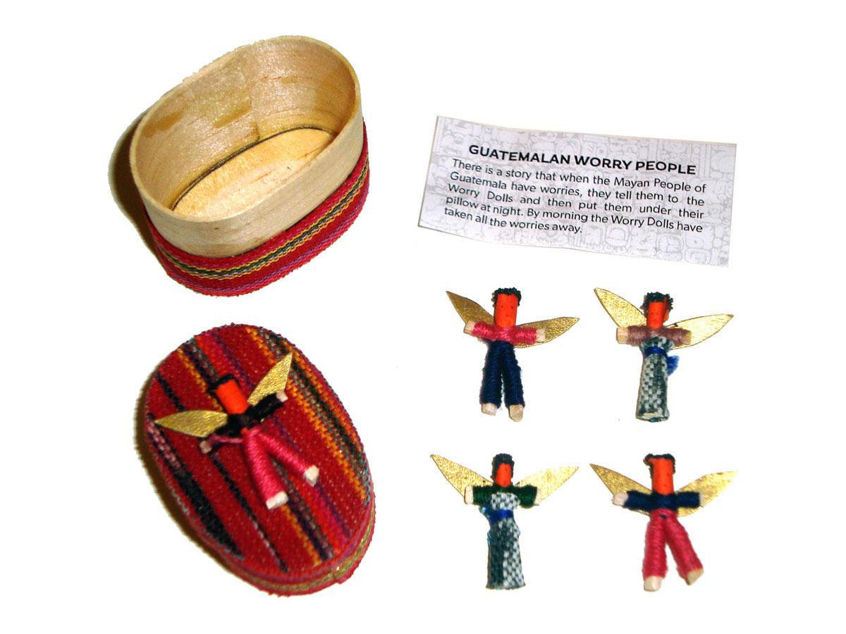 Angel Worry Dolls - 4 X MINI ANGEL WORRY DOLLS in BOX