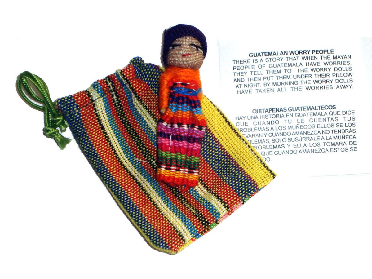 Worry Doll - SINGLE BIG WORRY DOLL in TEXTILE BAG