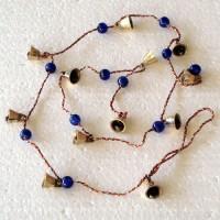 Brass Bells on String with Beads - Medium