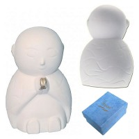 Jizo Standing & Praying - Ivory