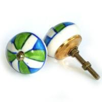 Ceramic Door Knob - LARGE - Design [D]