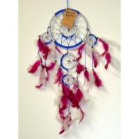 Small DREAM CATCHER Dual Ring - BLUE
