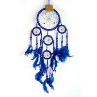 Small Dream Catcher - BEADED Blue