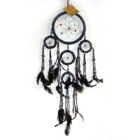 Small Dream Catcher - BEADED Bluish/Purplish/Greenish