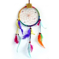 Medium Dream Catcher - SUEDE ONE RING Rainbow