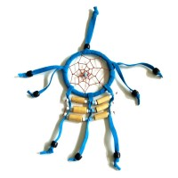 Mini Dream Catcher SUEDE 6cm - Aqua