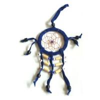 Mini Dream Catcher SUEDE 6cm - Blue