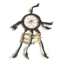 Mini Dream Catcher SUEDE 6cm - Brown