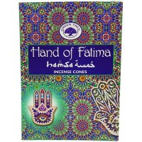 Green Tree Incense Cones - HAND of FATIMA