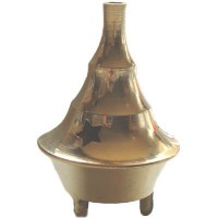 CONE or DHOOP BURNER Brass - Small
