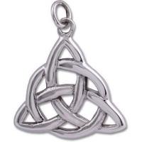 Sterling Silver Pendant - CELTIC TRIQUETRA Large