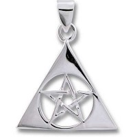 Sterling Silver Pendant - PENTAGRAM in TRIAD