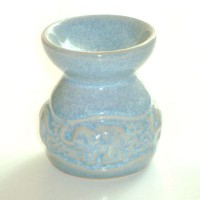 Small Oil Burner - Elephant - Blue