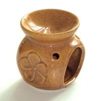 Small Oil Burner - Flower - Brown