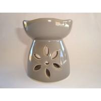 Small Oil Burner - Cut Flower - Grey